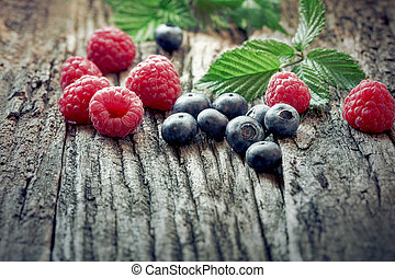 Eating healthy food - fresh organic berry fruit