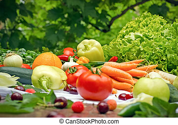 Eating healthy food - organic food