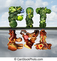 Eating Lifestyle Change - Eating lifestyle change concept...