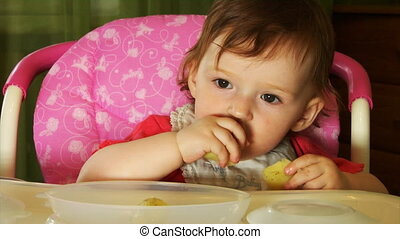 eating little baby