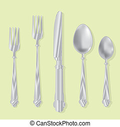 eating utensils vector