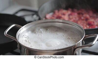 eau, ébullition, casserole