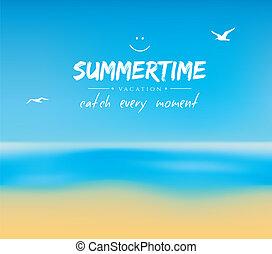 eau, été, sable, fond