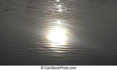 eau, étincelant, surface