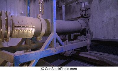 eau, après, matériel, treatment., production, biogas, boue, rester, eaux égout