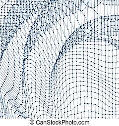 eau, arrière-plan., résumé, grille, surface.