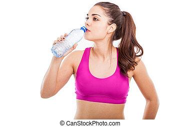 eau, athlète, quelques-uns, boire