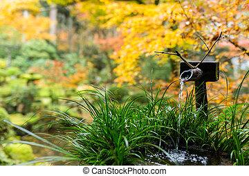 jardin pierre japonaise fontaine bambou pagada. Black Bedroom Furniture Sets. Home Design Ideas