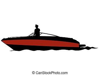eau, bateau moteur
