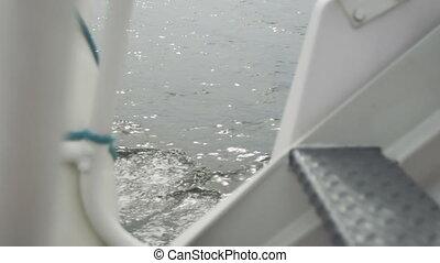 eau, bateau, pont, vue