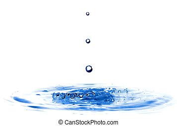 eau, blanc, éclaboussure, isolé, gouttes