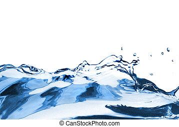 eau, blanc, éclaboussure, isolé, vague