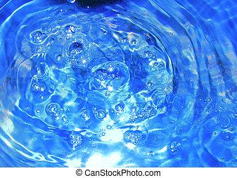 eau, bleu, éclaboussure