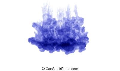 eau bleue, 6, 3d, encre