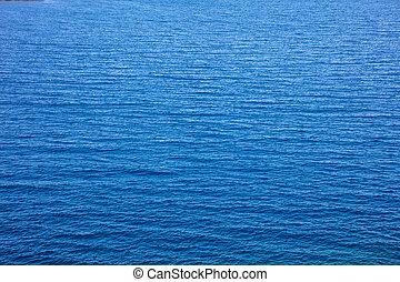 eau bleue, angle, mer, élevé, fond, texture, vue