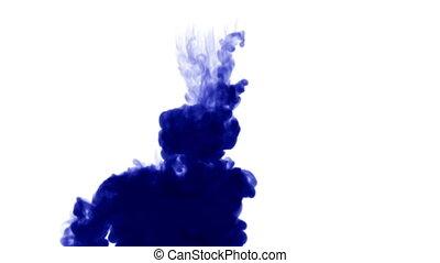 eau bleue, arrière-plan., mat, animation, effets, 7, encre, alpha, blanc, 3d, ou, canal, luma