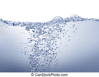 eau bleue, blanc, propre