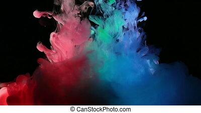 eau bleue, créer, formes, peinture, rgb, vert, artistique, rouges