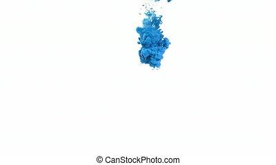 eau bleue, encre
