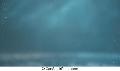 eau bleue, fond, lumières