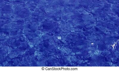 eau bleue, fond