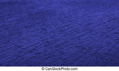 eau bleue, mer, fond