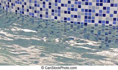 eau bleue, piscine, pur, natation