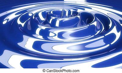 eau bleue, résumé, gouttes, vague