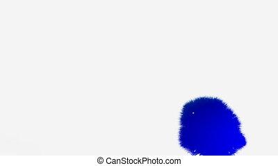 eau bleue, résumé, isoler, encre