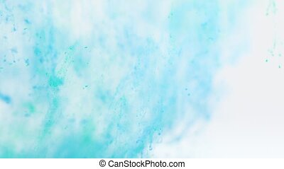 eau bleue, turquoise, encre