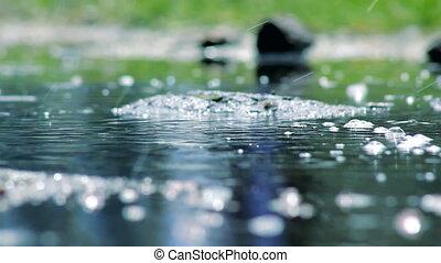 eau, bulles, eclabousse