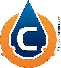 eau, c, huile, tuyau, solutions, lettre