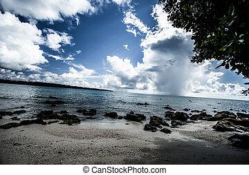 eau ciel bleu, transparent, mer, nuages