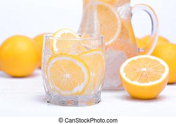 eau, citrons frais