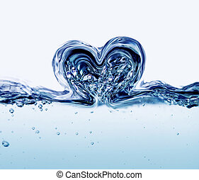 eau, coeur
