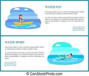eau, coloré, illustration, sport, vecteur, amusement