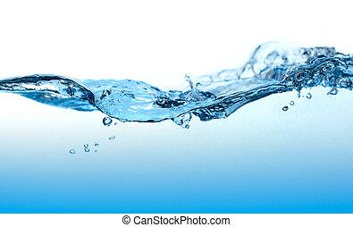 eau, courbé, wave.