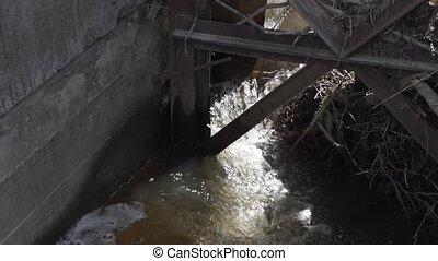eau, déchets ménagers, par, rivière, seeps