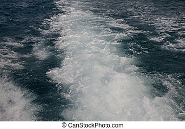 eau, dans dos, de, bateau