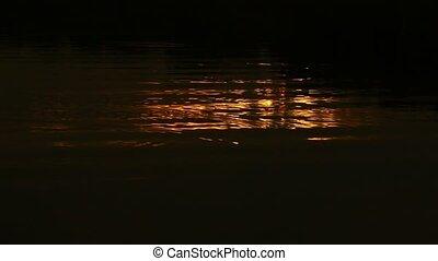 eau, doré, lumière