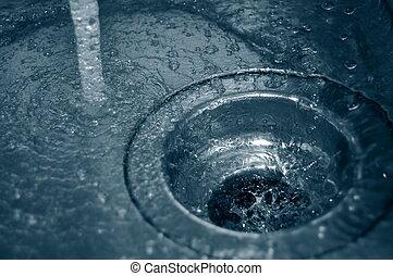 eau, drain