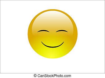 eau, emoticons, 2, -, sourire