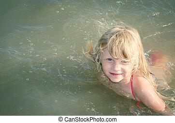 eau, enfant