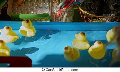 eau, flotter, jouet, canards