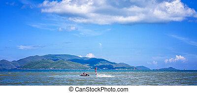 eau, flyboard, sports