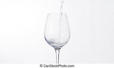 eau, frais, verser, verre