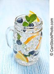 eau, fruit, parfumé