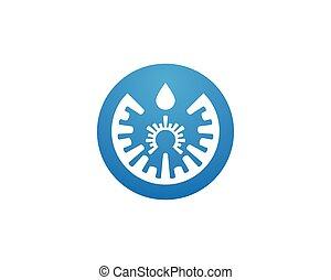 eau, gabarit, éclaboussure, vecteur, logo