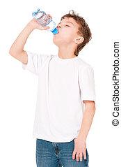 eau, garçon, boissons