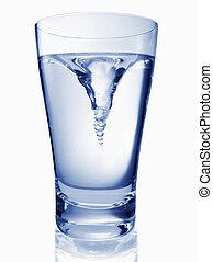 eau, glas, tordre